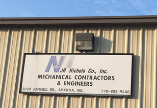 JR Nichols Office Sign